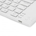 LB Bluetooth V3.0 80-clavier sans fil pliable pour iPhone / iPad - Blanc