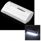 "ZNOODA Universal 3.7V ""5600mAh"" Li-ion Battery Power Bank w/ LED - White (5V)"