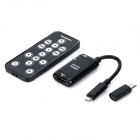 MHL to HDMI HD Adapter + Controller + Micro 5-pin to 11-pin Adapter for Samsung - Black