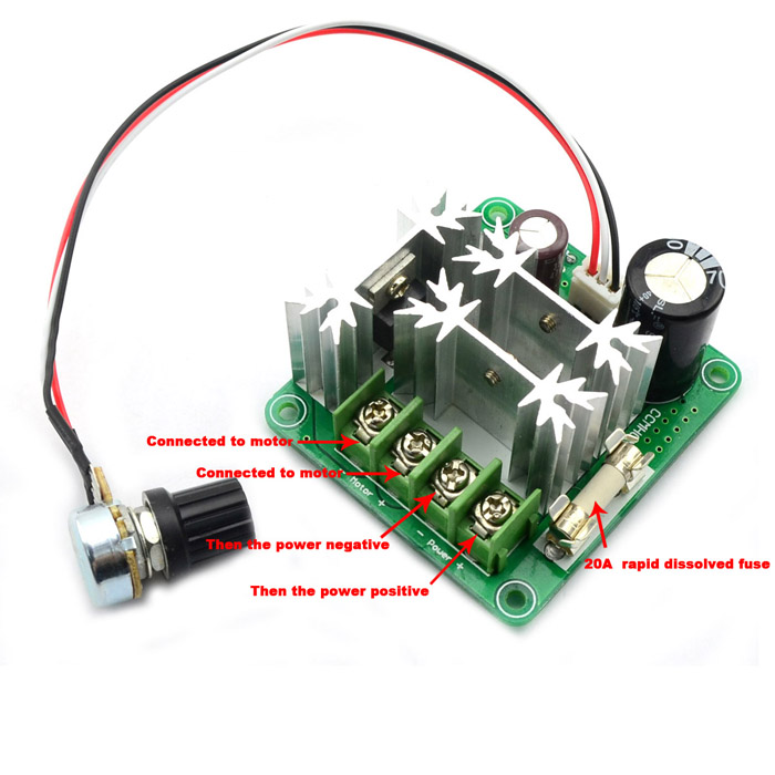 Jtron Pwm Dc Motor Speed Controller Green 15a 6 90v Free Shipping Dealextreme