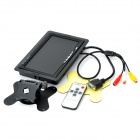 "7"" TFT LCD Digital Car Desktop Monitor w/ VGA / AV - Black"