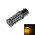 BA15S / 1156 3.4W 300lm 68 x SMD 1210 LED Yellow Car Signal Light / Steering Lamp / Headlamp - (12V)