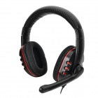PS4 / PS3 / PC / Xbox360 Stereo Gaming Headset w/ Microphone / Voice Control - Black + Red (3.5 M)