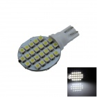 T10 / W5W 2W 160lm 24 x SMD 1210 LED White Polarity Free Car Instrument Light / Reading lamp - (12V)