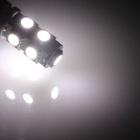 BA9S / W6W 1.8W 120lm 9-SMD 5050 LED White Car Indicator Light / Instrument / Clearance Lamp - (12V)