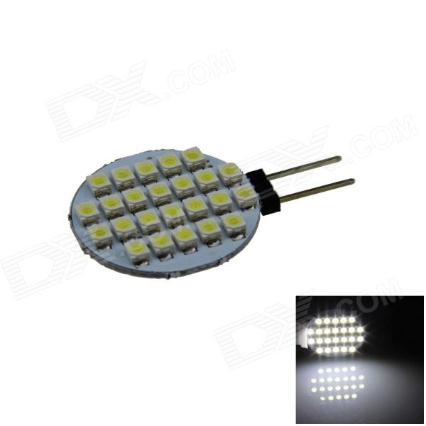 G4 2.4W 160lm 24 x SMD 1210 LED White Polarity Free Car Instrument Light / Reading lamp - (12V) g4 6w 500lm 6000k 120 smd 1210 led white light car instrument reading lamp dc 12v