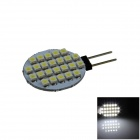 G4 2.4W 160lm 24 x SMD 1210 LED White Polarity Free Car Instrument Light / Reading lamp - (12V)