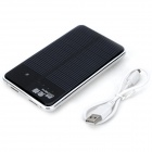 Quickman Solar Dual USB ''10000mAh'' Power Bank - Silver (5V / 30cm)