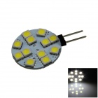 G4 2.4W 160lm 12 x SMD 5050 LED White Polarity Free Car Instrument Light / Reading lamp - (12V)