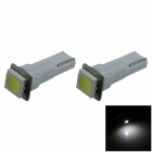T5 0.2W 18lm 1 x SMD 5050 LED White Light Car Instrument Lamp / Indicator lamp - (DC 12V / 2 PCS)