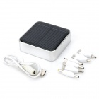 Portátil Universal 6600mAh Dual USB Power Bank solar para iPhone / iPad / iPod - Branco (5V)