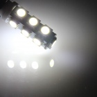 BA9S / W6W 2.5W 200lm 13-SMD 5050 LED Branco Car Indicator Light / Instrumento / Clearance lâmpada (12V)