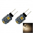 G4 1W 80lm 5 x SMD 5050 LED Warm White Light Car Instrument / Reading Lamp - (DC 12V / 2 PCS)