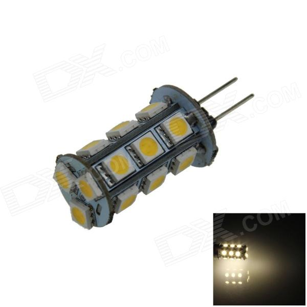 G4 3.6W 300lm 18 x SMD 5050 LED Warm White Light Car Instrument / Reading Lamp - (DC 12V) lx 3w 250lm 6500k white light 5050 smd led car reading lamp w lens electrodeless input 12 13 6v