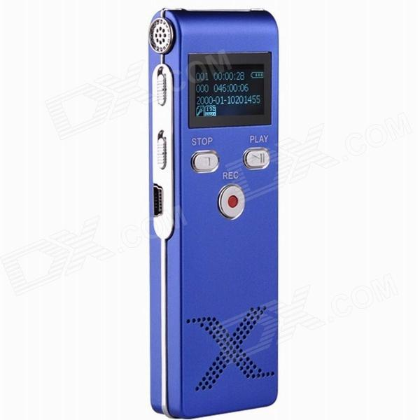 Thchi YMX-R8 1.0 LCD Professional Digital Voice Recorder Dictaphone MP3 Player - Blue (8GB) cad u37 usb studio recording microphone