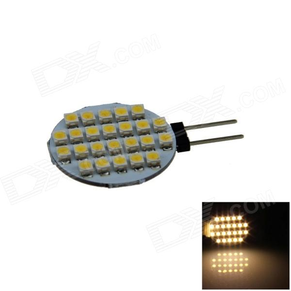 G4 2.4W 160lm 24 x SMD 1210 LED Warm White Polarity Free Car Instrument Light / Reading lamp - (12V) g4 6w 500lm 6000k 120 smd 1210 led white light car instrument reading lamp dc 12v