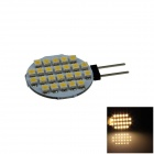 G4 2.4W 160lm 24 x SMD 1210 LED Warm White Polarity Free Car Instrument Light / Reading lamp - (12V)