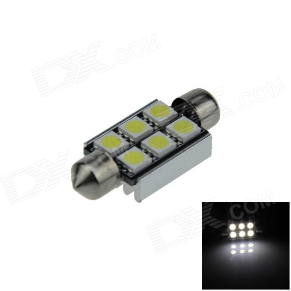 Canbus Festoon 39mm 1.5W 80lm 6-SMD 5050 LED White Car Roof light / Reading Lamp w/ Heat Sink (12V)