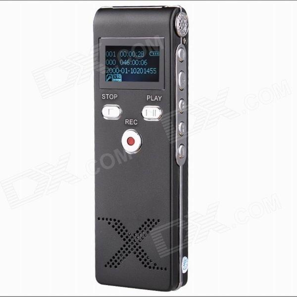 Thchi YMX-R4 1.0 LCD Professional Digital Voice Recorder Dictaphone MP3 Player - Black (8GB) cad u37 usb studio recording microphone
