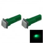 0.2W T5 18lm 1 x lâmpada LED SMD 5050 Green Light Instrumento Car Lamp / Indicator - (DC 12V / 2 PCS)