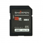 SHARPEN Ultra High Speed 300X 45Mb/S Video HD SD SDHC Card - Black (128GB)