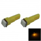 T5 0,2 W 18lm 1 x SMD 5050 LED Yellow Light Car Instrument Lampe / Kontrollleuchte - (DC 12V / 2 PCS)