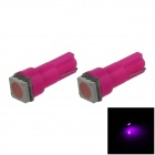 T5 0.2W 18lm 1 x SMD 5050 LED Purple Light Car Instrument Lamp / Indicator lamp - (DC 12V / 2 PCS)