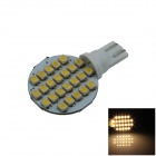 T10 2W 160lm 24 x SMD 1210 LED Warm White Polarity Free Car Instrument Light / Reading lamp - (12V)