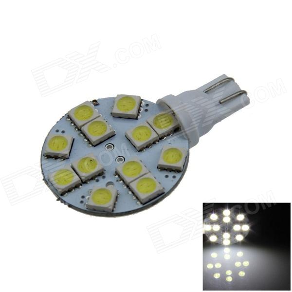 T10 2.4W 160lm 12 x SMD 5050 LED White Polarity Free Car Instrument Light / Reading lamp - (12V)