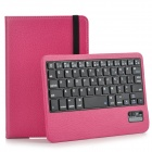 Detachable Rotatable Bluetooth V3.0 59-Key Keyboard w/ Protective Case for IPAD / IPHONE - Peach
