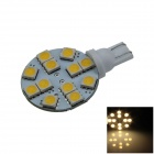 T10 2.4W 160lm 12 x SMD 5050 LED Warm White Polarity Free Car Instrument Light / Reading lamp (12V)