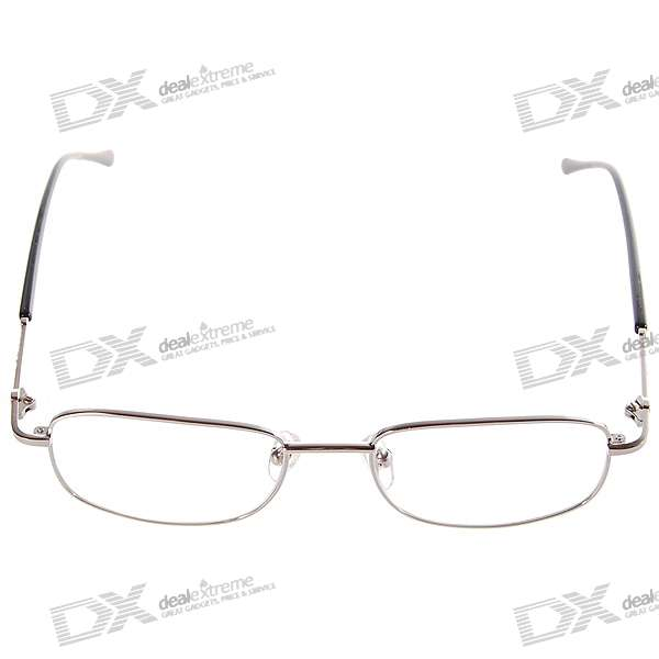 White Brass Frame Reading Glasses with Hard Protective Case (+1.00D)