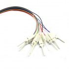 Jtron Logic Analyzer Test Clip - White (10 PCS)