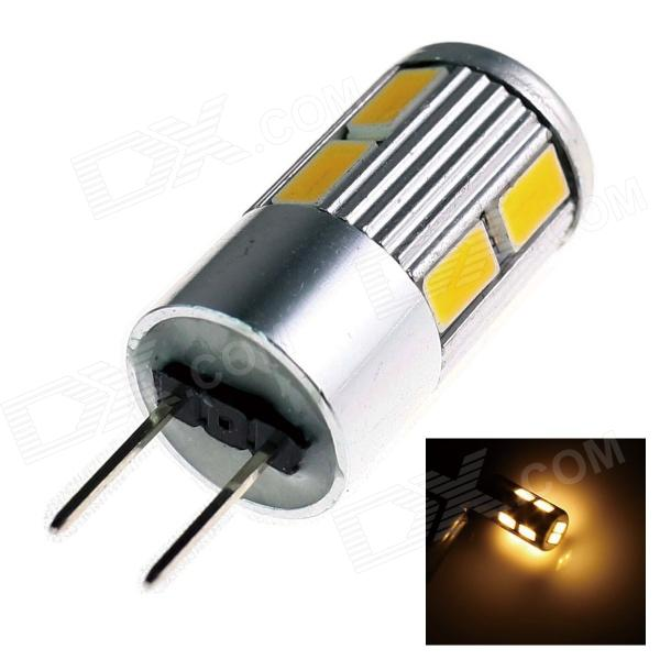 TZY E24 G4 5W 220lm 10 x SMD 5730 LED Warm White Light Car Lamp - (12V) lexing lx r7s 2 5w 410lm 7000k 12 5730 smd white light project lamp beige silver ac 85 265v
