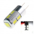 TZY E25 G4 5W 220lm 10 x SMD 5730 LED Neutral White Light Car Lamp 12V