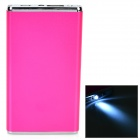 "3.7V ""5600mAh"" Li-ion Battery Power Bank w/ Flashlight for iPHONE 5 / 5S + More - Dark Pink"