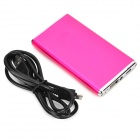 "3.7V ""5600mAh"" Li-ion Battery Power Bank w / lanterna para o iPhone 5 / 5S + Mais - rosa escuro"