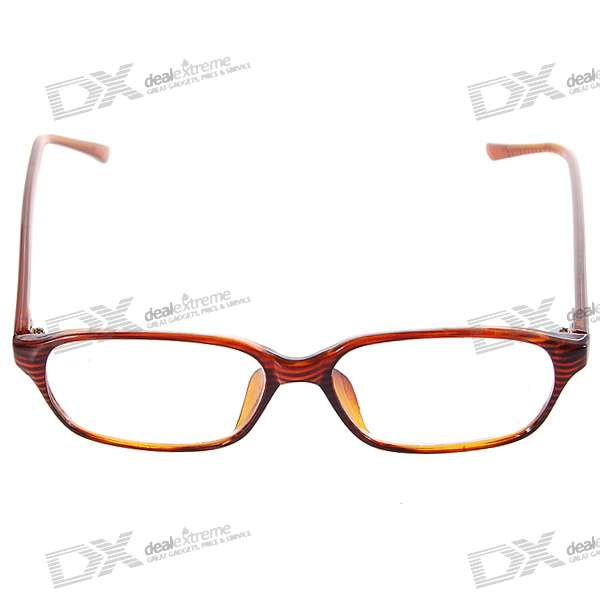 PVC Frame Resin Lens Reading Glasses with Hard Protective Case (+2.00D)