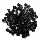 Jtron 5.5 x 2.1mm DC Power Socket - Negro (100 PCS)