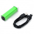 Universal 2500mAh Rechargeable Portable Power Bank + Cable for IPHONE / Samsung + More - Green