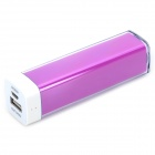 Universal 2500mAh Rechargeable Portable Power Bank + Cable for IPHONE / Samsung + More - Purple