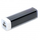 Universal 2600mAh Rechargeable Portable Power Bank + Cable for IPHONE / Samsung + More - Black