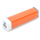 Universal 2500mAh Rechargeable Portable Power Bank + Cable for IPHONE / Samsung + More - Orange