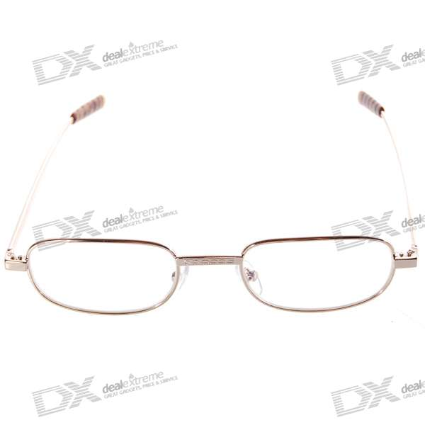 Alloy Frame Reading Glasses with Hard Protective Case (+1.00D) classy alloy framed presbyopia reading glasses with protective case 2 50