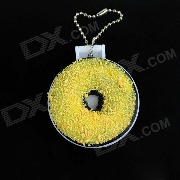 Doughnut Makeup Mirror - Brown + White + Yellow