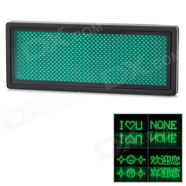 USB Rechargeable / Edit By PC / Message Advertising Green LED Name Scrolling Text Badge
