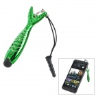 Fish Style Capacitive Touch Screen Stylus Pen w/ Anti-Dust Plug for Cell Phone - Green + Black