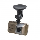 "ALADDN A903 3.0"" TFT LCD 1080P 8.0 MP Wide Angle Car Black Box DVR Camcorder w/ 4-IR LED - Golden"
