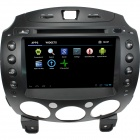 "LsqSTAR 8"" Android 4.0 Car DVD Player w/ GPS,RDS,WiFi,PIP,TV,SWC,Radio,BT,3DUI,Dual Zone for MAZDA 2"