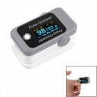 Finger Pulse Oximeter - Black + Gray (2 x AAA)